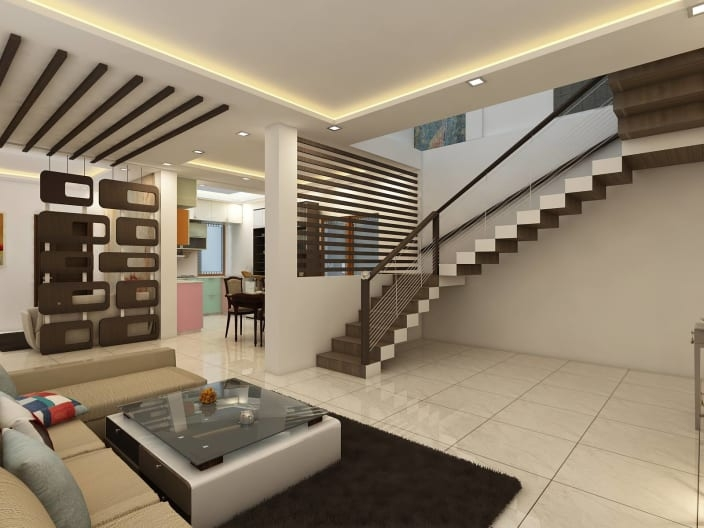 Modern Minimalist Modern Living Room False Ceiling Design | Ceiling Design For Stairs Area | Stairwell | Accent Lighting | Cake Shop | Cafeteria | L Shape