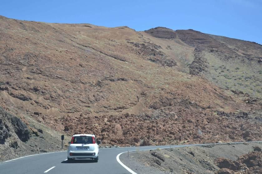 Strada sul Teide