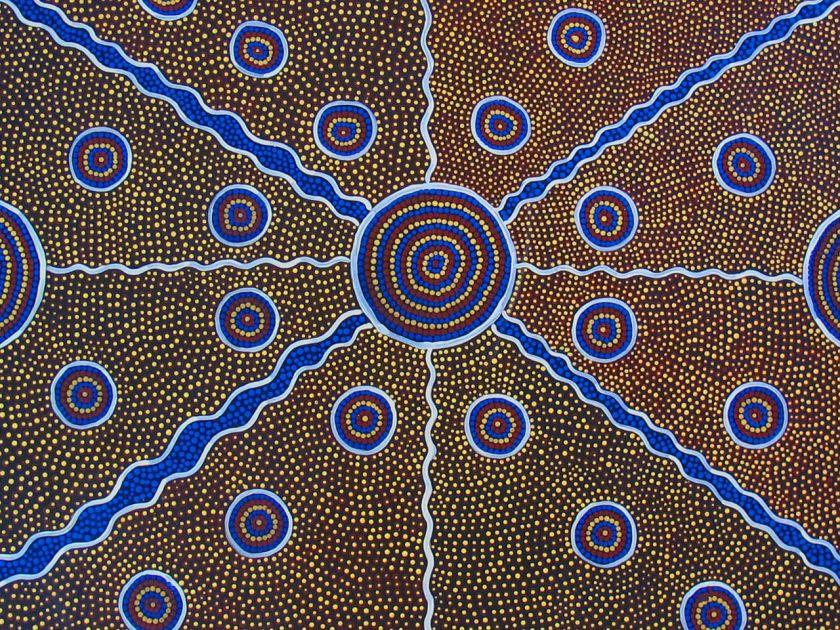 Le leggende aborigene australiane viaggiando a testa alta for Arte aborigena
