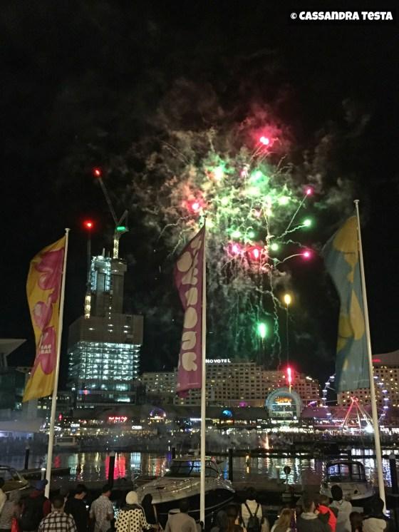 Fuochi d'artificio a Darling Harbour, Sydney