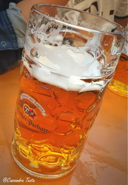 La birra dell'Oktoberfest, Monaco di Baviera