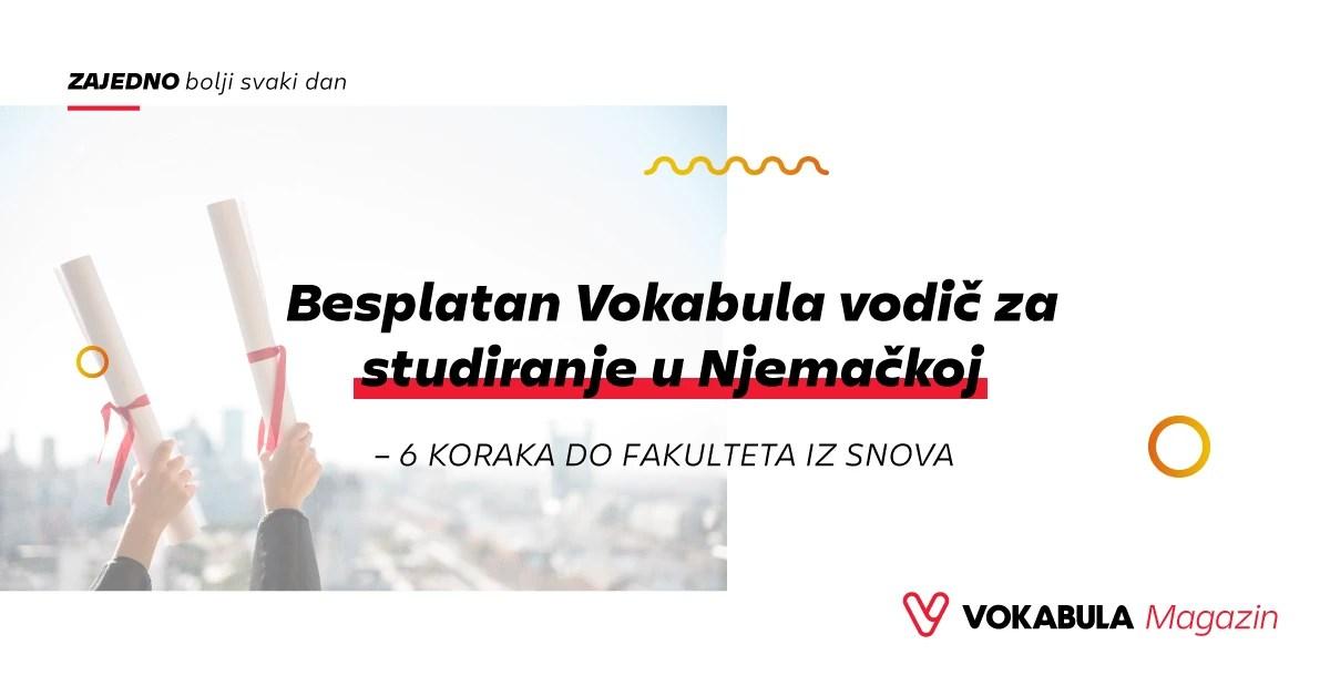 Besplatan Vokabula vodič za studiranje u Njemačkoj