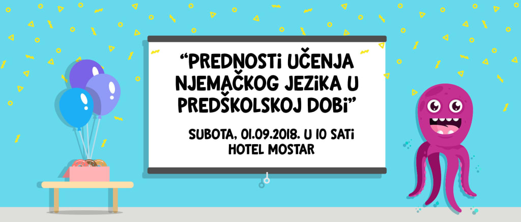 """Otto Krake, Najava predavanja """"Prednosti učenja njemačkog jezika u predškolskoj dobi"""""""