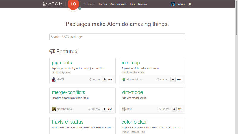 Atom packages