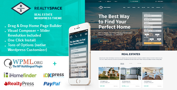 RealtySpace - Best Real Estate WordPress Themes