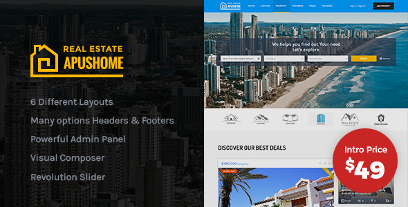 Apus Home - Real Estate WordPress Theme