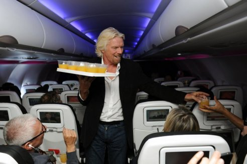 RIchard Branson in Flight !