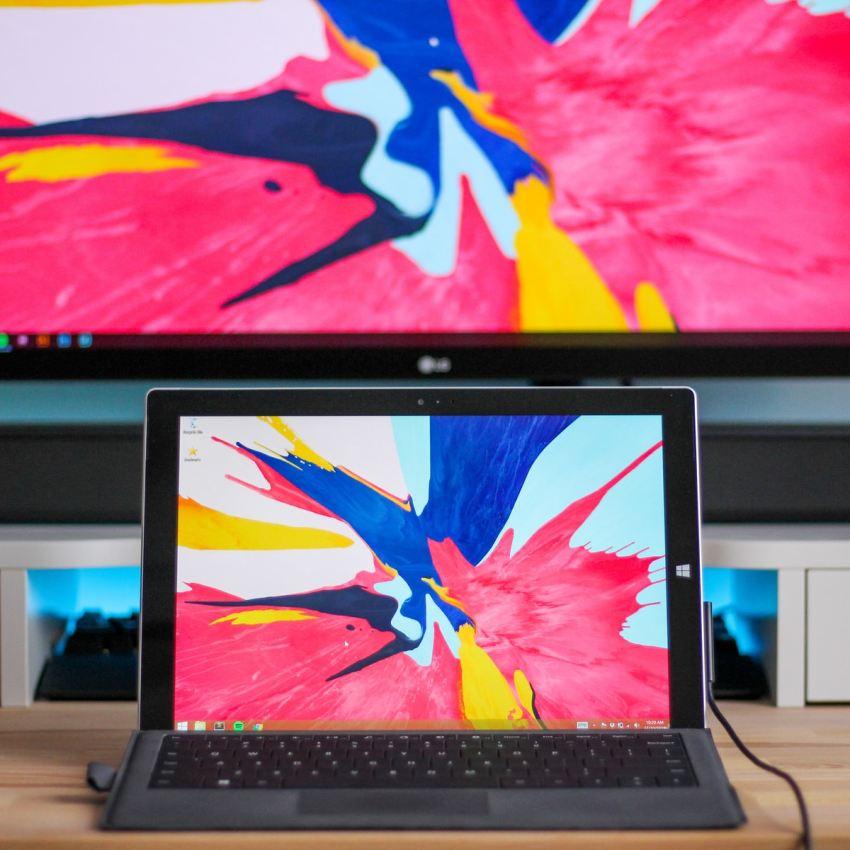 black Windows Surface laptop