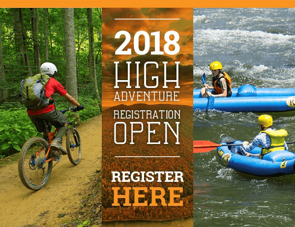 2018 HIGH ADVENTURE REGISTRATION OPEN