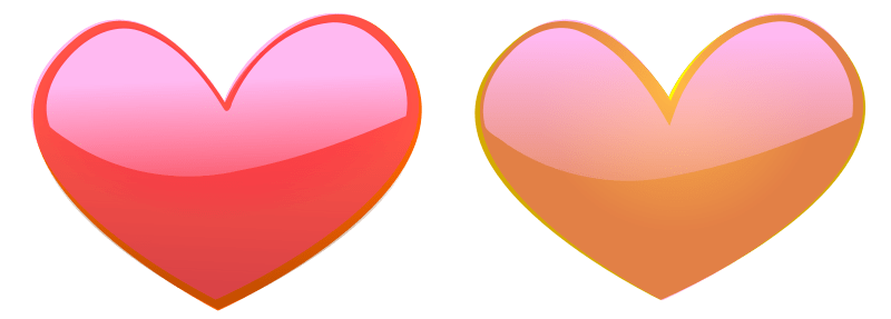 Hearts Free Stock Photo Illustration Of Pink And