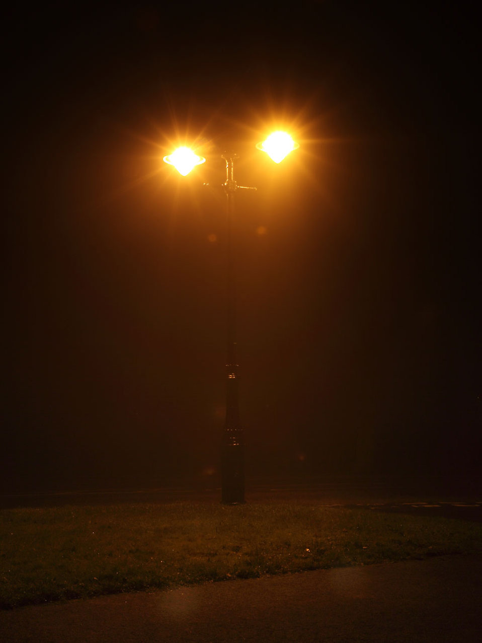 Street Lamp Free Stock Photo A Street Lamp Shining On