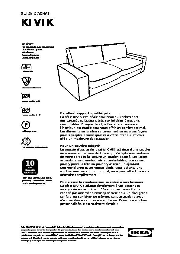 Kivik Housse De Canapé 3pla Isunda Beige Ikea France