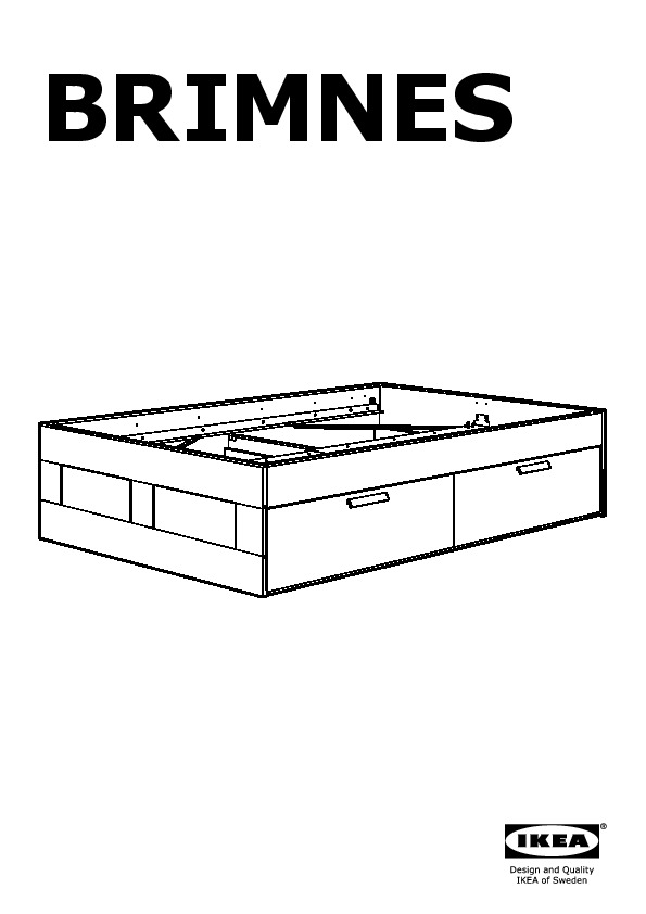 brimnes bed frame with drawers white