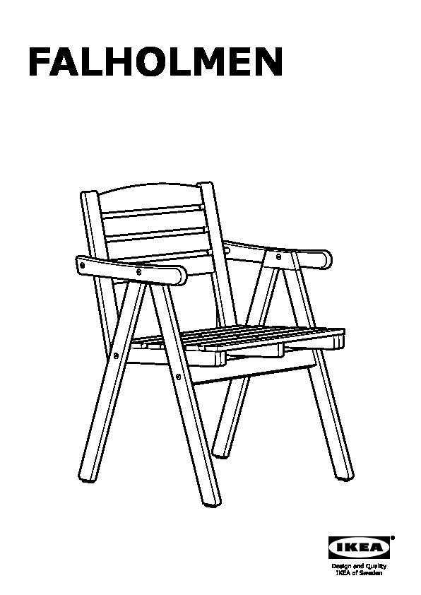 falholmen chaise avec accoudoirs