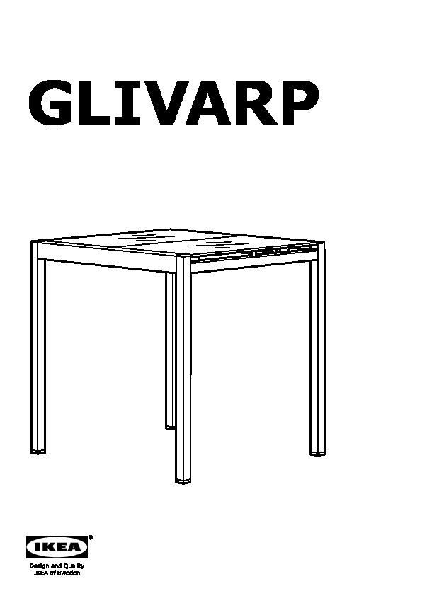 Glivarp Table Extensible Transparent Chromé Ikea