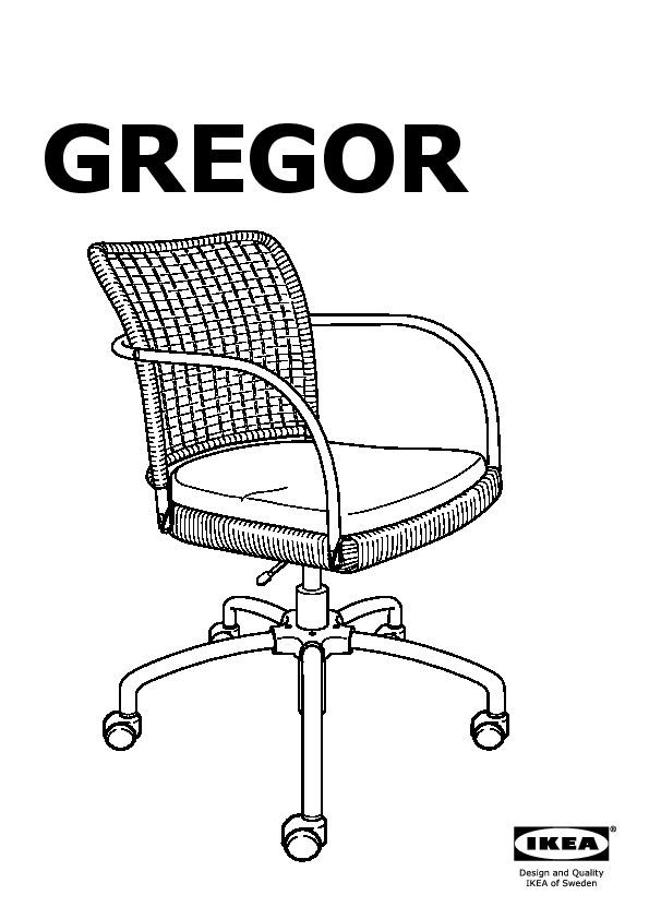 gregor chaise pivotante noir gris