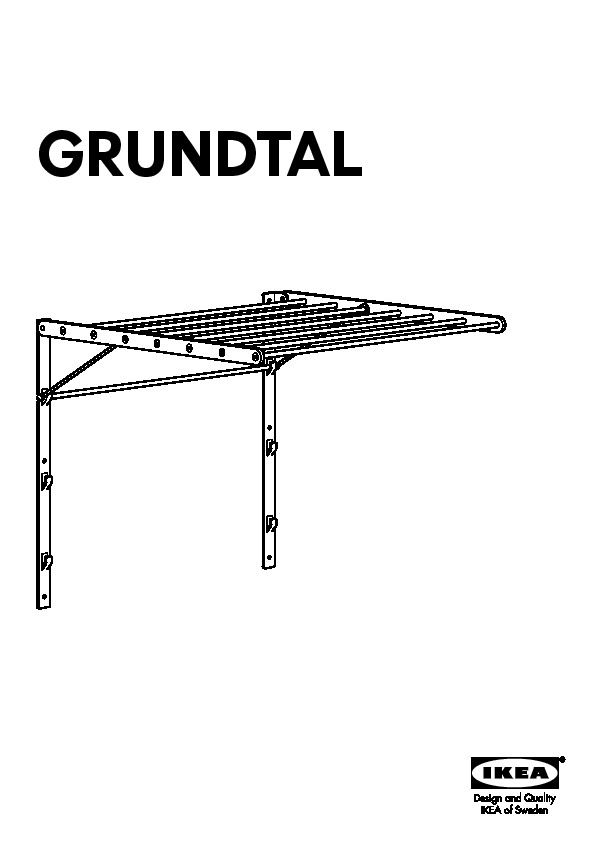 Grundtal Etendoir Mural Acier Inoxydable Ikeapedia