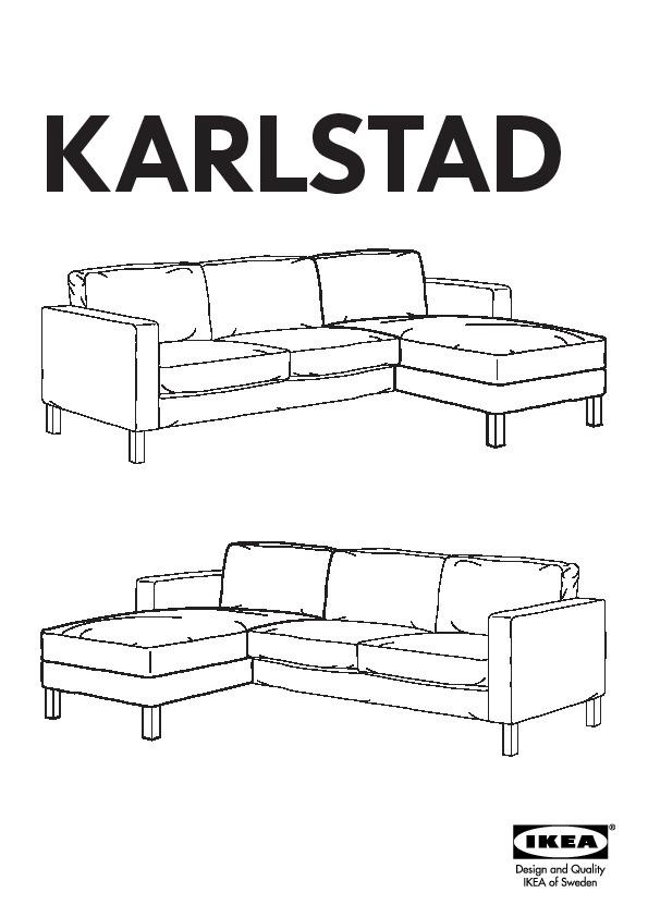 Karlstad 2 Méridiennescanapé 3 Places Lindö Beige Ikea