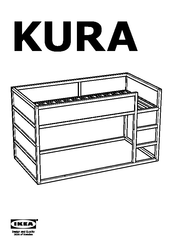 Kura Reversible Bed White Pine Ikea Canada English