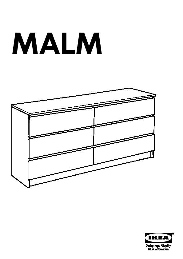malm commode 6 tiroirs blanc ikeapedia