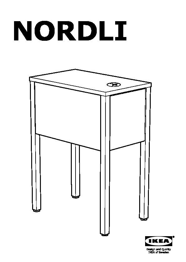 Nordli Chevet Avec Station Charge Sans Fil Blanc Ikea