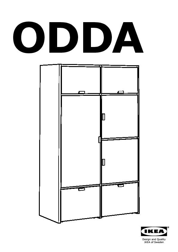 ODDA Armoire Noir Blanc IKEA France IKEAPEDIA