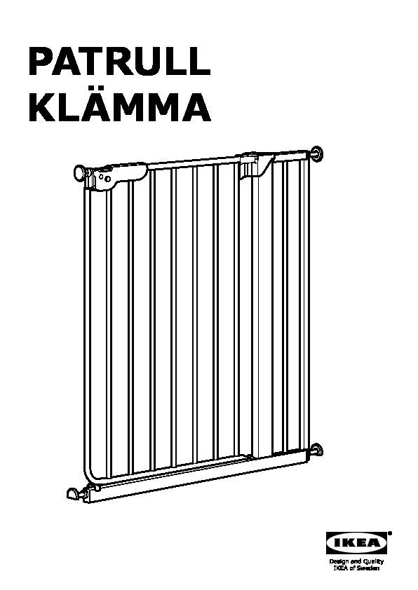 Patrull Klämma Barrière De Sécurité Blanc Ikea France