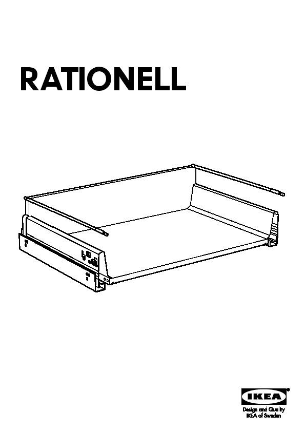rationell tiroir profond ouvert compl