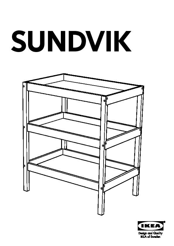 Sundvik Table à Langer Blanc Ikea France Ikeapedia