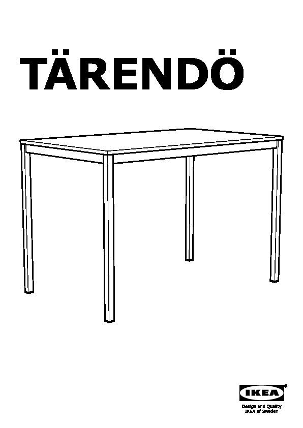 tarendo table noir ikeapedia
