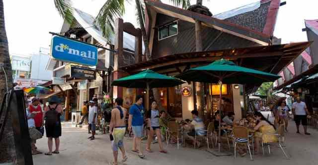 D'mall商圈,圖片取自boracaycompass.com。