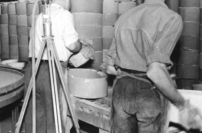 Two male industrial workers exposed to silica dust