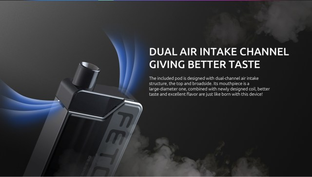 Dual Air Intake Channel Design of SMOK Fetch Mini
