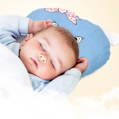 baby pillow breathable organic pp cotton newborn head shaping pillow flat head syndrome prevention and head support pillow