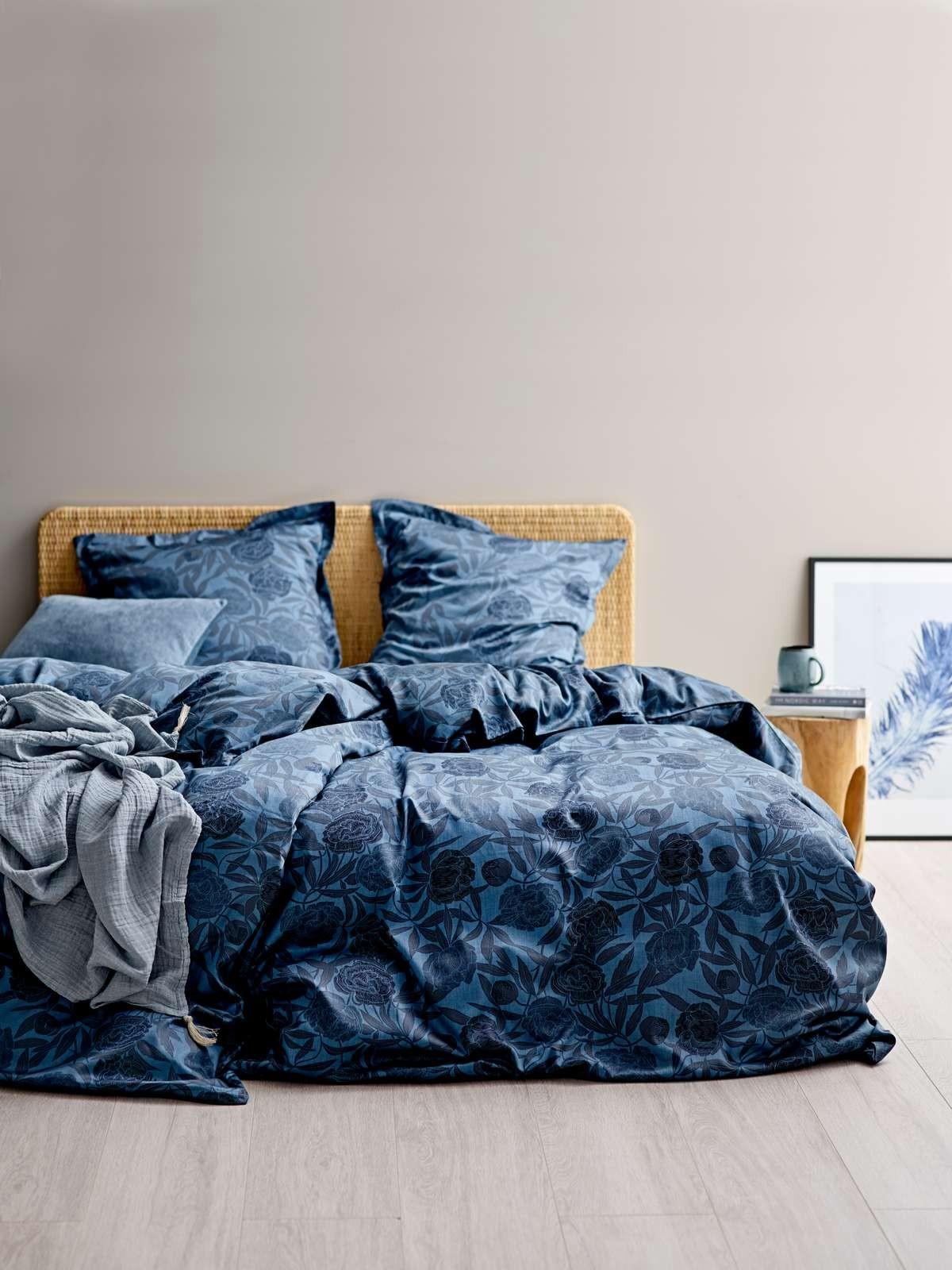 Sodahl Organic Tapestry Sengetoj 200 X 220 Cm Indigo