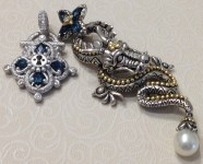 White gold lock with dragon