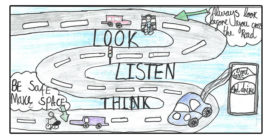 road safety banner competition 2020