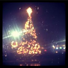I even had a view of the Christmas tree