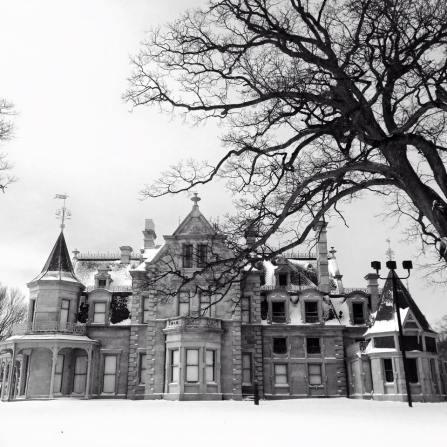 Lockwood Mathews Mansion B&W