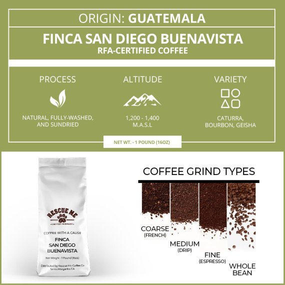 Guatemala Single Origin Rescue Me Coffee