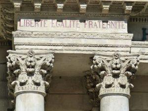 """Devise française """"Liberté, Egalité, Fraternité"""""""