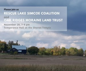 State of natural areas protection in the Lake Simcoe Watershed