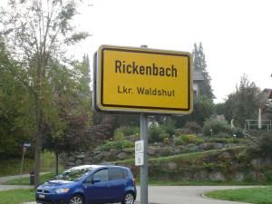 Sign at entrance to village.