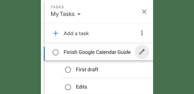 How to use Google Calendar's task list feature