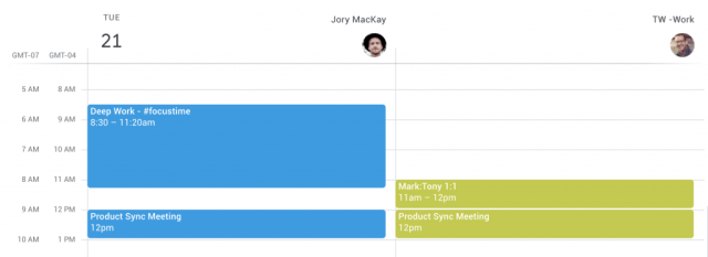 How to view two Google Calendars side-by-side