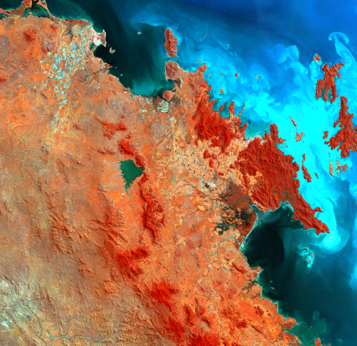 The Airlie Beach region seen from Sentinel-2 MSI (01 April 2017)