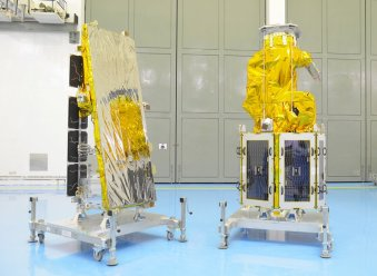 NovaSAR-1 and SSTL S1-4 at the Satish Dhawan Space Centre
