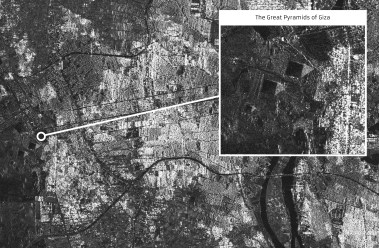NovaSAR-1 image of Giza, Egypt