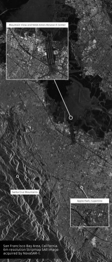 NovaSAR-1 image of San Francisco