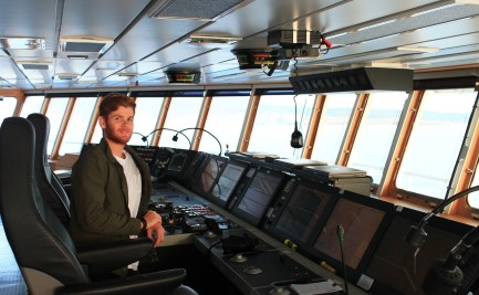 James Hokin on board the Investigator